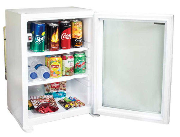 Glass Door Hotel Minibar White Model